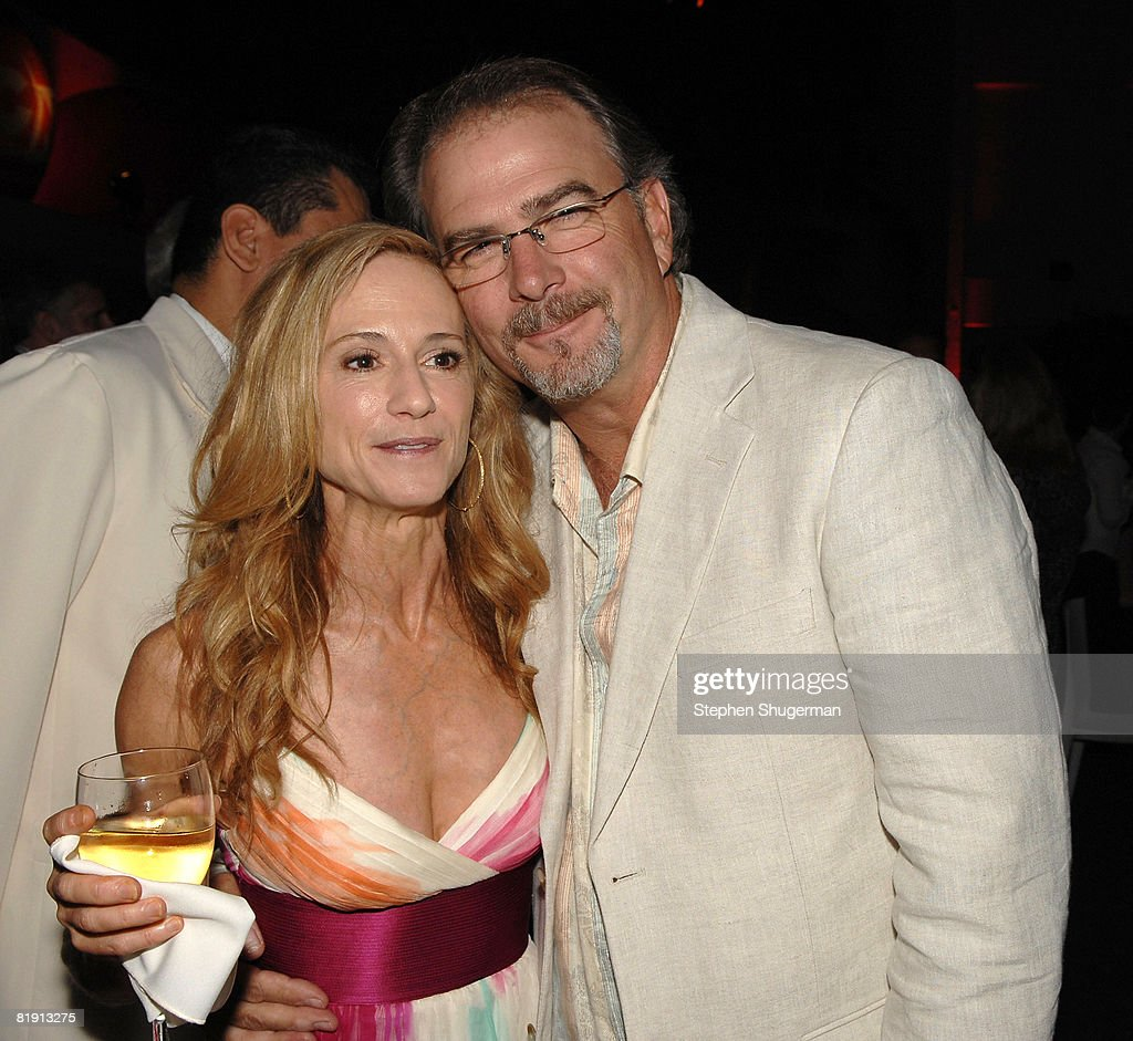 Actors Holly Hunter (L) and Bill Engvall attend the 2008 Summer TCA Tour Turner Party at the Beverly Hilton Hotel on July 11, 2008 in Beverly Hills, California.