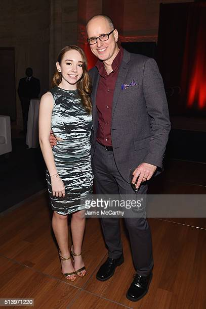Actors Holly Taylor and Kelly AuCoin attend the 'The Americans' season 4 premiere on March 5 2016 in New York City