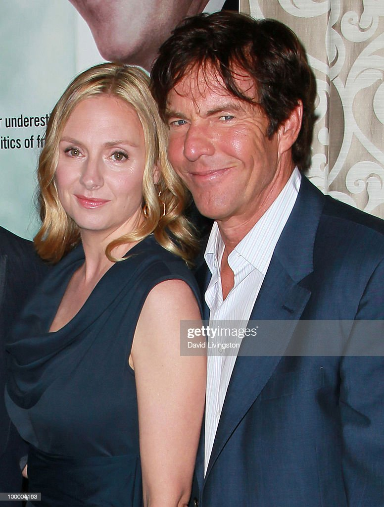 Actors Hope Davis (L) and Dennis Quaid attend the premiere of HBO Films 'The Special Relationship' at the Directors Guild of America on May 19, 2010 in Los Angeles, California.