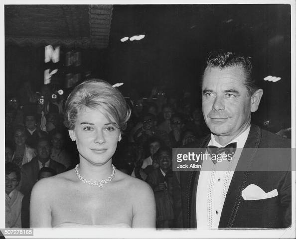Actors Hope Lange and Glenn Ford attending the premiere of the film 'Mutiny on the Bounty' Hollywood California 1963