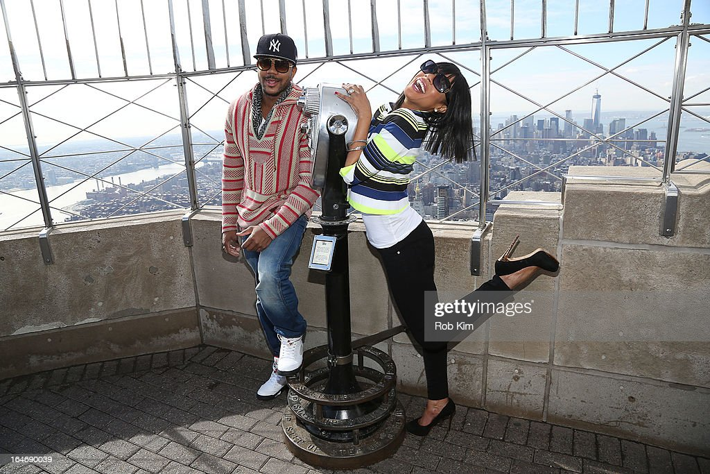 Actors Hosea Chanchez and Wendy Raquel Robinson visit The Empire State ...