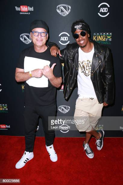 Actors Howie Mandel and Nick Cannon arrives at the Nick Cannon Hosts Screening Of 'King Of The Dance Hall' at TCL Chinese 6 Theatres on June 22 2017...