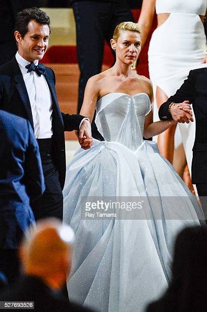 Actors Hugh Dancy and Claire Danes leave the 'Manus x Machina Fashion In An Age Of Technology' Costume Institute Gala at the Metropolitan Museum Of...