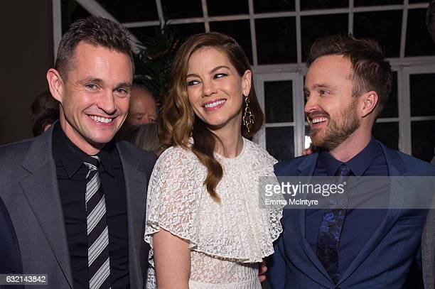 Actors Hugh Dancy Michelle Monaghan and Aaron Paul attend the after party for the premiere of Hulu's 'The Path' Season 2 at Sundance Sunset Cinema on...