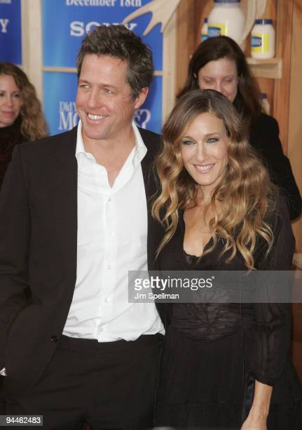 Actors Hugh Grant and Sarah Jessica Parker attend the 'Did You Hear About the Morgans' New York premiere at Ziegfeld Theatre on December 14 2009 in...