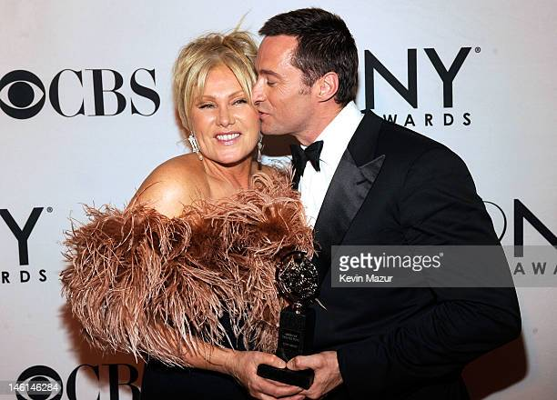 Actors Hugh Jackman and DeborraLee Furness attend the 66th Annual Tony Awards at The Beacon Theatre on June 10 2012 in New York City