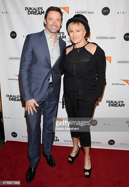 Actors Hugh Jackman and DeborraLee Furness attend the premiere of Dukale's Dream on June 4 2015 in New York City
