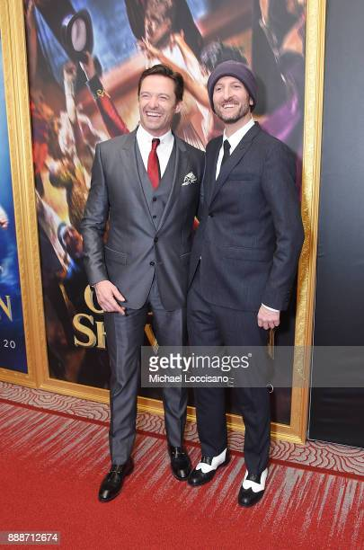 Actors Hugh Jackman and director Michael Gracey attend the 'The Greatest Showman' World Premiere aboard the Queen Mary 2 at the Brooklyn Cruise...