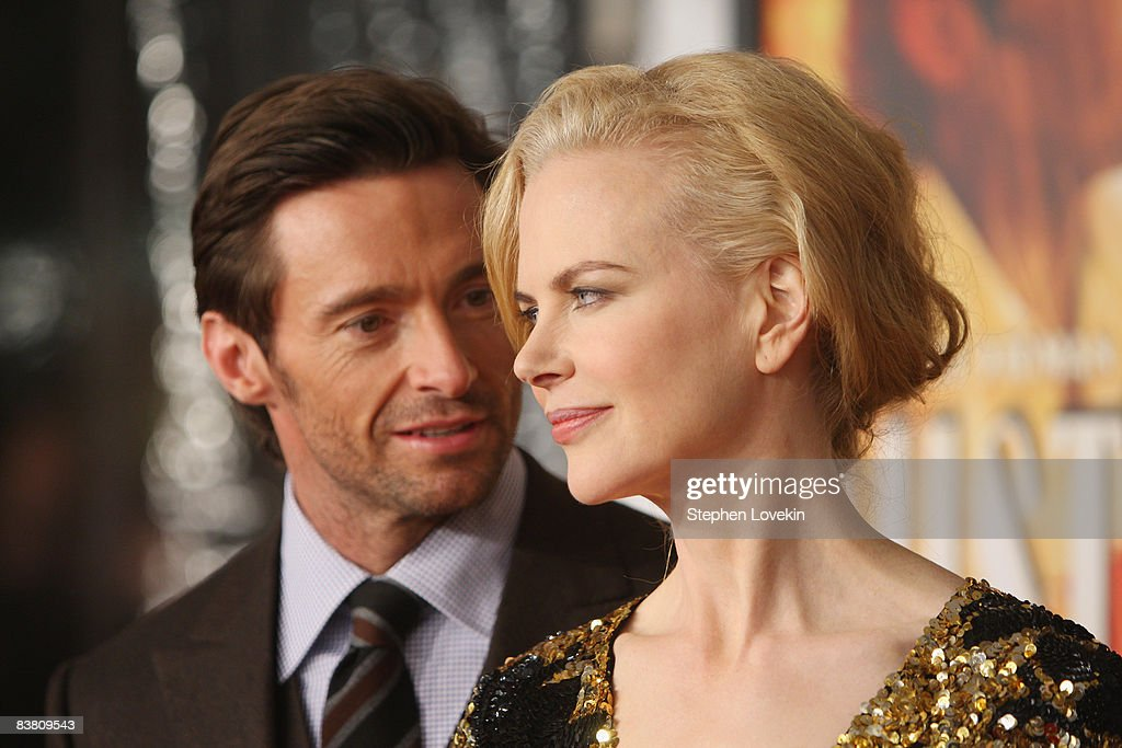 Actors <a gi-track='captionPersonalityLinkClicked' href=/galleries/search?phrase=Hugh+Jackman&family=editorial&specificpeople=202499 ng-click='$event.stopPropagation()'>Hugh Jackman</a> and <a gi-track='captionPersonalityLinkClicked' href=/galleries/search?phrase=Nicole+Kidman&family=editorial&specificpeople=156404 ng-click='$event.stopPropagation()'>Nicole Kidman</a> attend the premiere of 'Australia' at the Ziegfeld Theater on November 24, 2008 in New York City.