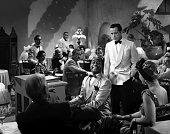Actors Humphrey Bogart and Dooley Wilson pose for a publicity still for the Warner Bros film 'Casablanca' in 1942 in Los Angeles California