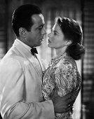 Actors Humphrey Bogart and Ingrid Bergman pose for a publicity still for the Warner Bros film 'Casablanca' in 1942 in Los Angeles California