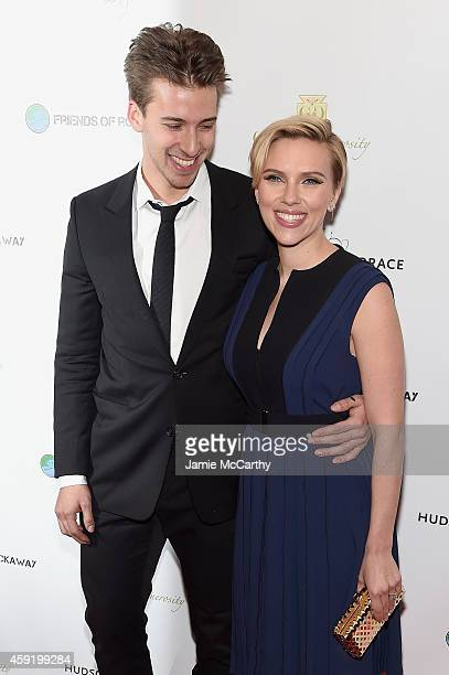Actors Hunter Johansson and Scarlett Johansson attends the Friends Of Rockaway 2nd annual Hurricane Sandy fundraiser at Hudson Terrace on November 18...
