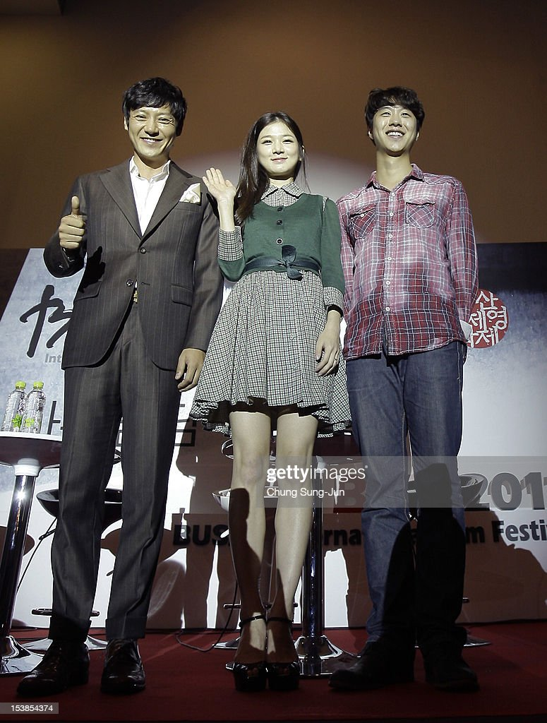 Actors Hwang Tae-Kwang, Kim Soo-In and Shin so-Hyun attend Meet the Guest 'Actors of Vision' during the 17th Busan International Film Festival (BIFF) at Busan Cinema Center on October 10, 2012 in Busan, South Korea. The biggest film festival in Asia showcases 304 films from 75 countries and runs from October 4-13.