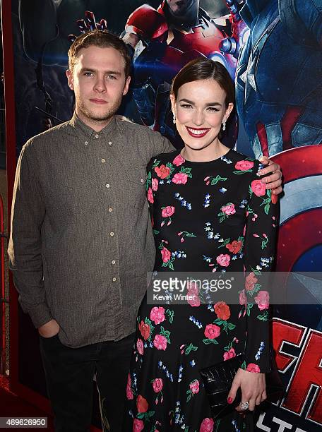 Actors Iain De Caestecker and Elizabeth Henstridge attend the premiere of Marvel's 'Avengers Age Of Ultron' at Dolby Theatre on April 13 2015 in...