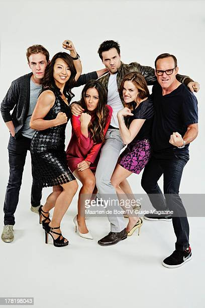 Actors Iain De Caestecker MingNa Wen Chloe Bennet Brett Dalton Elizabeth Henstridge and Clark Gregg are photographed for TV Guide Magazine on July 20...