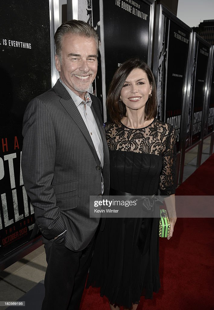 Actors Ian Buchanan (L) and <a gi-track='captionPersonalityLinkClicked' href=/galleries/search?phrase=Finola+Hughes&family=editorial&specificpeople=206161 ng-click='$event.stopPropagation()'>Finola Hughes</a> arrive at the premiere of Columbia Pictures' 'Captain Phillips' at the Academy of Motion Picture Arts and Sciences on September 30, 2013 in Beverly Hills, California.