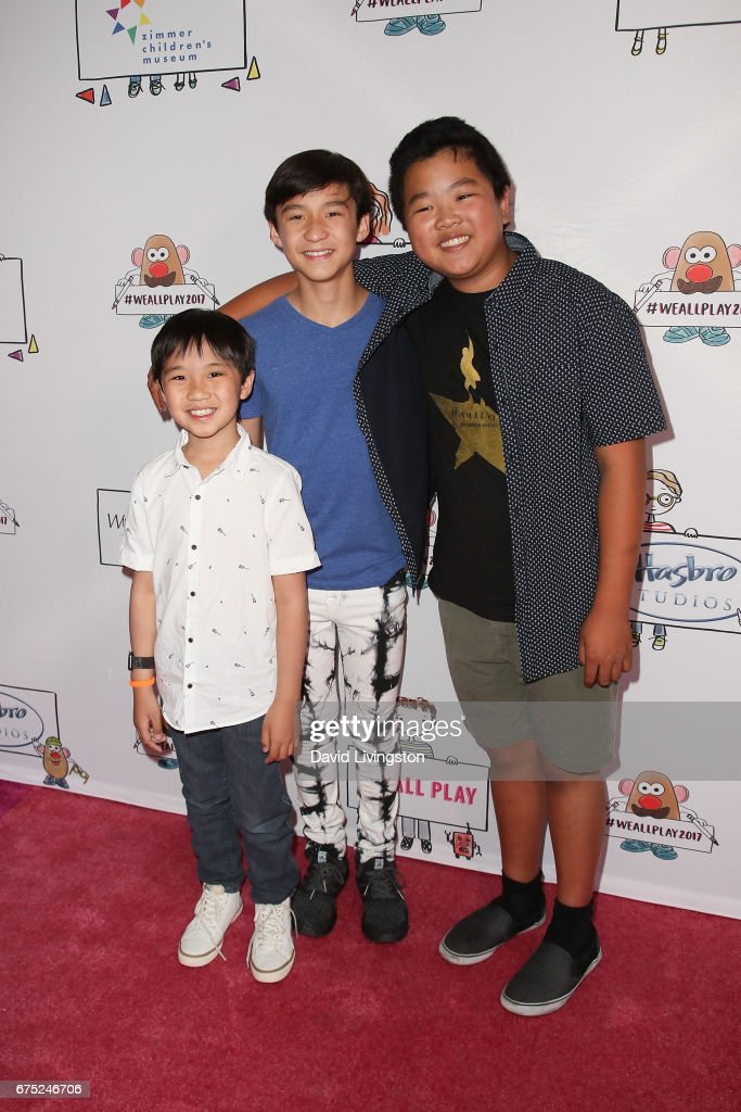 Actors Ian Chen, Forrest Wheeler and Hudson Yang attend the WE ALL PLAY FUNdraiser hosted by the Zimmer Children's Museum at the Zimmer Children's Museum on April 30, 2017 in Los Angeles, California.