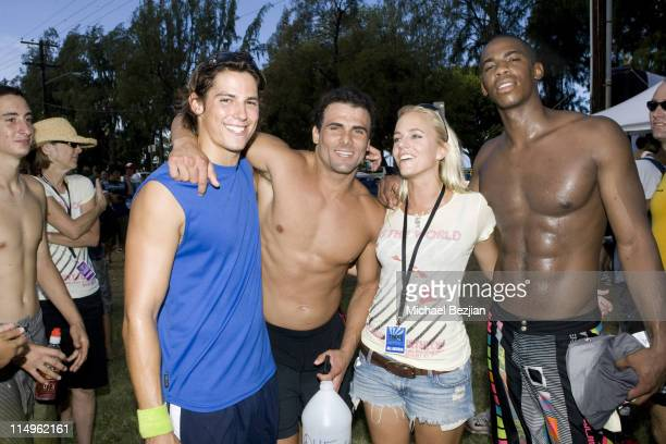 "Actors Ian Cusick and Jeremy Jackson Hannah Cornett and actor Mehcad Brooks attend the 1st Annual Charity Celebrity Triathlon Hosted By ""Tag the..."