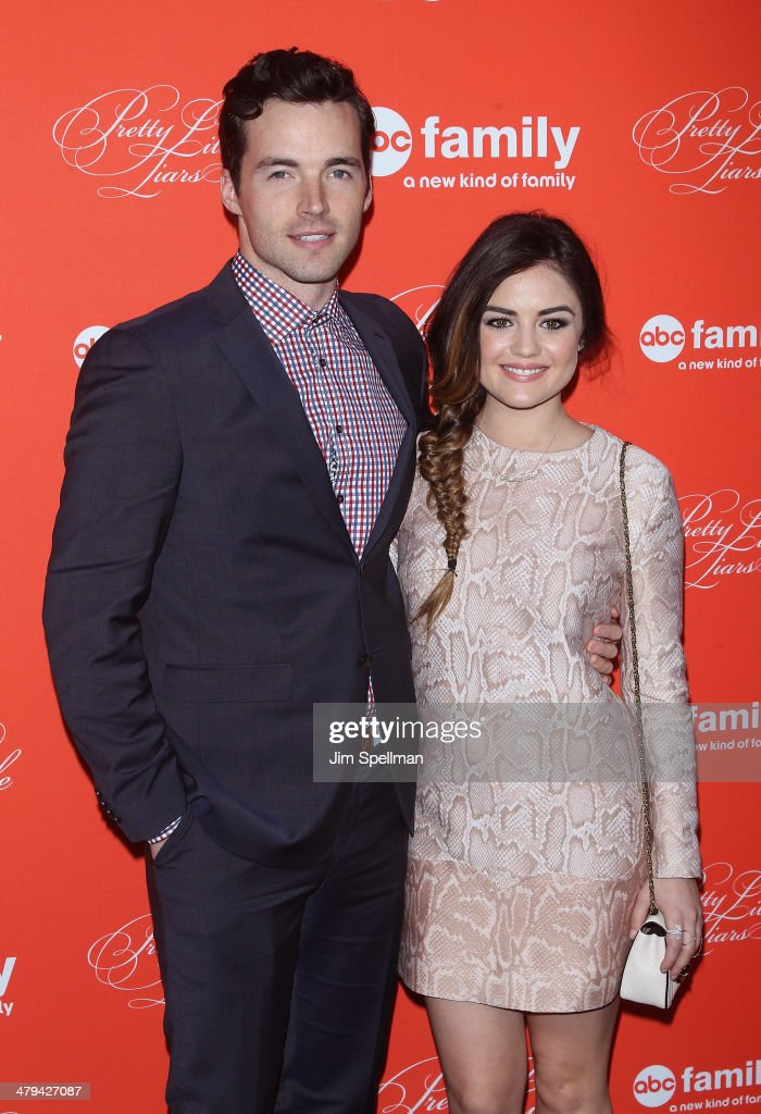 Actors <a gi-track='captionPersonalityLinkClicked' href=/galleries/search?phrase=Ian+Harding&family=editorial&specificpeople=7133462 ng-click='$event.stopPropagation()'>Ian Harding</a> and <a gi-track='captionPersonalityLinkClicked' href=/galleries/search?phrase=Lucy+Hale&family=editorial&specificpeople=4430849 ng-click='$event.stopPropagation()'>Lucy Hale</a> attend the 'Pretty Little Liars' season finale screening at Ziegfeld Theater on March 18, 2014 in New York City.