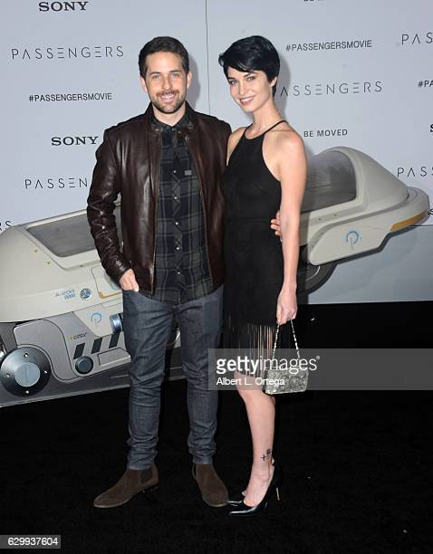 Actors Ian Hecox and Pamela Horton arrive for the Premiere Of Columbia Pictures' 'Passengers' held at Regency Village Theatre on December 14 2016 in...