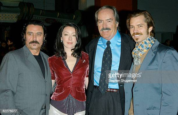 Actors Ian McShane Molly Parker Powers Boothe and Timothy Olyphant attend HBO's Telefilm Premiere of 'Deadwood' at Grauman's Chinese Theater on March...