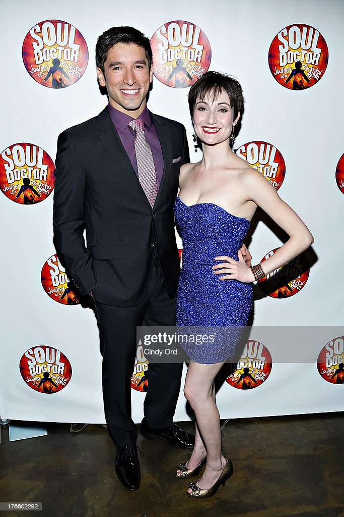 Actors Ian Paget and Alexandra Frohlinger attend the after party for the Broadway opening night of 'Soul Doctor' at the The Liberty Theatre on August 15, 2013 in New York City.