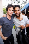 Actors Ian Somerhalder and Adam Rodriguez attend the 2012 Teen Choice Awards at Gibson Amphitheatre on July 22 2012 in Universal City California