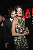 Actors Ian Somerhalder and Nikki Reed attend The 2016 InStyle and Warner Bros 73rd annual Golden Globe Awards PostParty at The Beverly Hilton Hotel...