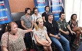 Actors Ian Somerhalder Zach Roerig and Paul Wesley writer and producer Julie Plec and actors Candice King Matt Davis Michael Malarkey and Kat Graham...
