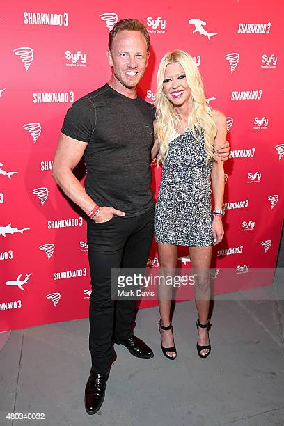Actors Ian Ziering and Tara Reid attend the 'Sharknado 3' Party during ComicCon International 2015 at Hotel Solamar on July 10 2015 in San Diego...
