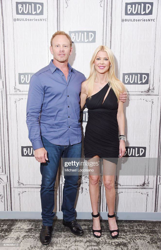 Actors Ian Ziering and Tara Reid visit the Build Series to discuss the film 'Sharknado 5: Global Swarming' at Build Studio on August 3, 2017 in New York City.