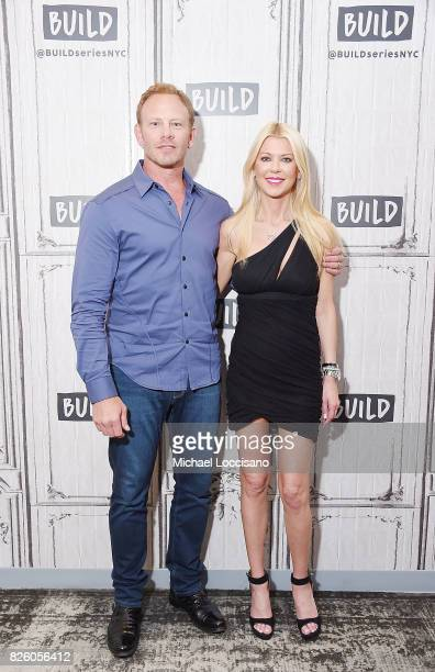 Actors Ian Ziering and Tara Reid visit the Build Series to discuss the film 'Sharknado 5 Global Swarming' at Build Studio on August 3 2017 in New...