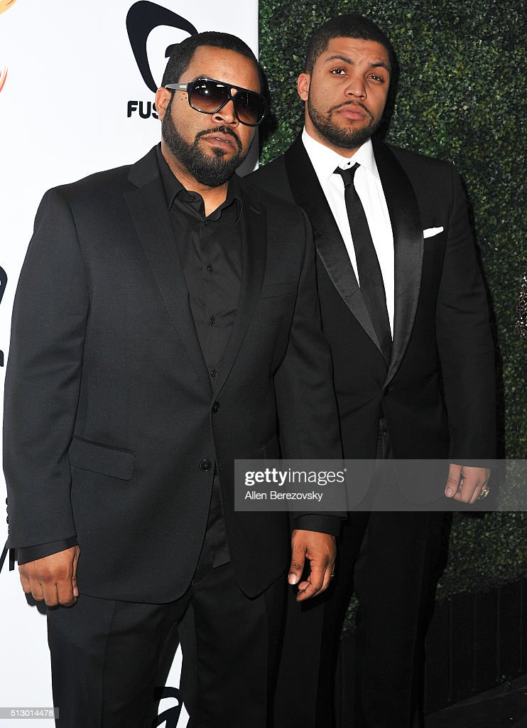 Actors Ice Cube and O'Shea Jackson, Jr. attend the All Def Movie Awards at Lure Nightclub on February 24, 2016 in Los Angeles, California.