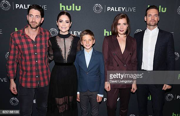 Actors Iddo Goldberg Janet Montgomery Oliver Bell Elise Eberle and Shane West attend the 'Salem' Season 3 Premiere Screening and Conversation at The...