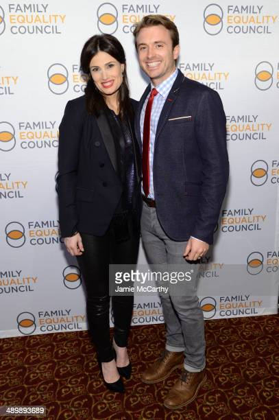 Actors Idina Menzel and James Snyder attend the Family Equality Council's 2014 Night at the Pier at Pier 60 on May 12 2014 in New York City