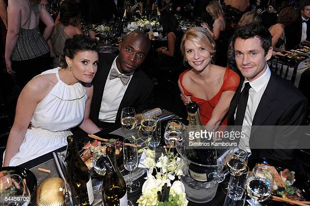 Actors Idina Menzel Taye Diggs Claire Danes and Hugh Dancy backstage at the TNT/TBS broadcast of the 15th Annual Screen Actors Guild Awards at the...