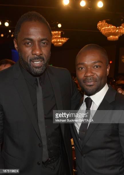 Actors Idris Elba and David Oyelowo attend the 2013 BAFTA LA Jaguar Britannia Awards presented by BBC America at The Beverly Hilton Hotel on November...
