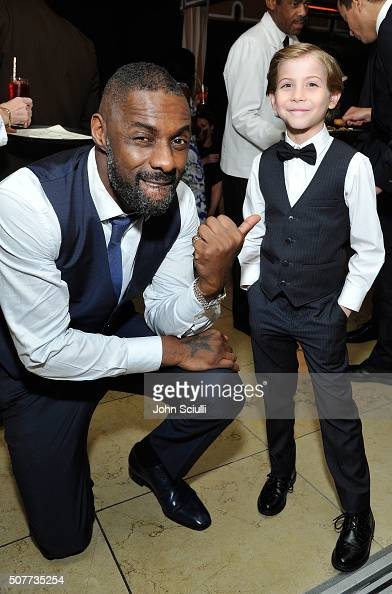 Actors Idris Elba and Jacob Tremblay attend the Weinstein Company Netflix's 2016 SAG after party hosted by Absolut Elyx at Sunset Tower on January 30...