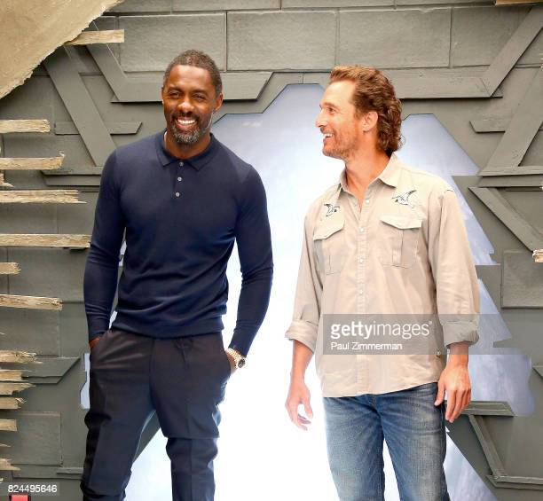 Actors Idris Elba and Matthew McConaughey attend 'The Dark Tower' Photo Call at the Whitby Hotel on July 30 2017 in New York City