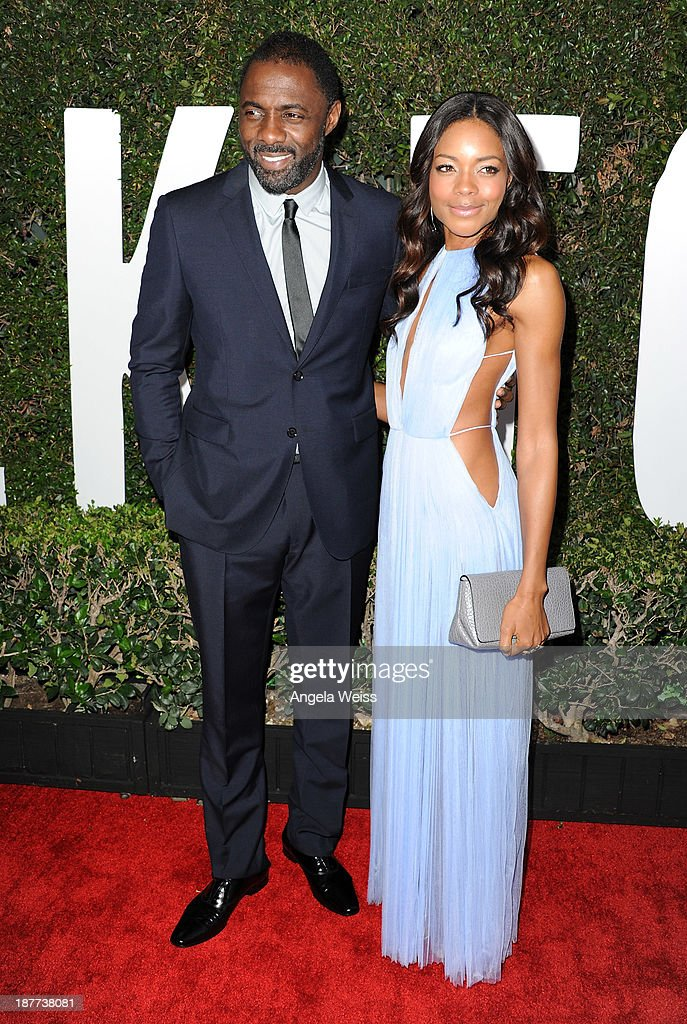 Actors Idris Elba and Naomie Harris attend the premiere of The Weinstein Company's 'Mandela: Long Walk To Freedom' at ArcLight Cinemas Cinerama Dome on November 11, 2013 in Hollywood, California.