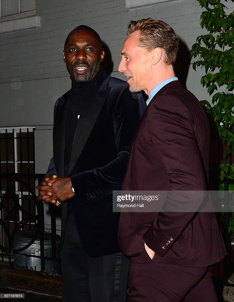 Actor <a gi-track='captionPersonalityLinkClicked' href=/galleries/search?phrase=Idris+Elba&family=editorial&specificpeople=215443 ng-click='$event.stopPropagation()'>Idris Elba</a> is seen coming of Ann Wintour at home on May 1, 2016 in New York City.