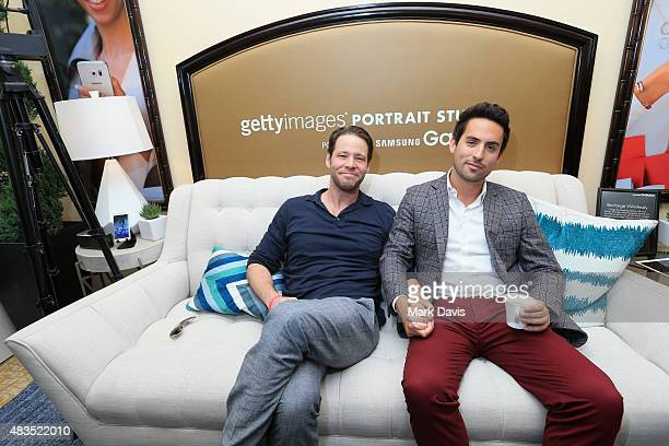 Actors Ike Barinhotlz and Ed Weeks of Hulu's 'The Mindy Project' attend Behind The Scenes Of The Getty Images Portrait Studio Powered By Samsung...