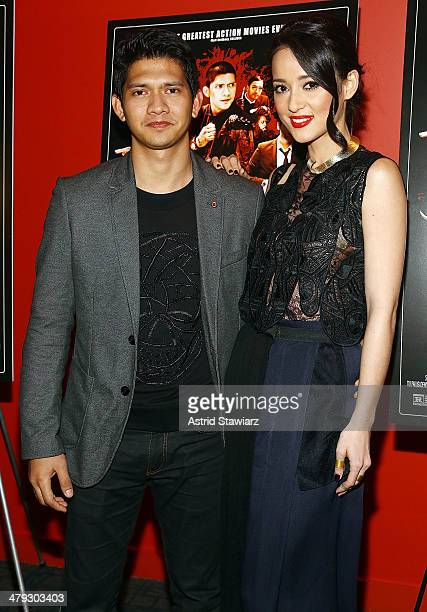Actors Iko Uwais and Julie Estelle attend 'The Raid 2' special screening at Sunshine Landmark on March 17 2014 in New York City