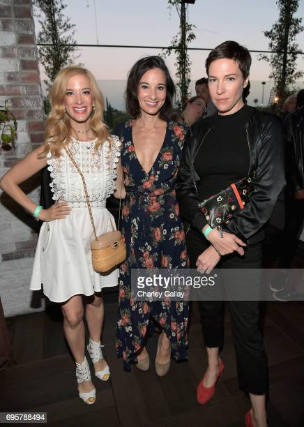 "Actors Ilana Becker Alison Becker and Rebecca Henderson celebrate the launch of truTV's new scripted comedy ""I'm Sorry"" at Catch LA on June 13 2017..."
