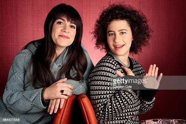 Actors Ilana Glazer Abbi Jacobson are photographed for Los Angeles Times on December 16 2013 in New York City PUBLISHED IMAGE CREDIT MUST BE Carolyn...