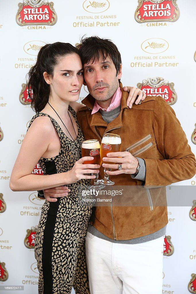 Actors Ileana Gonzalez and Juan Cruz Bordeu visit The Stella Artois Suite during The 66th Annual Cannes Film Festival at Radisson Blu on May 23, 2013 in Cannes, France.