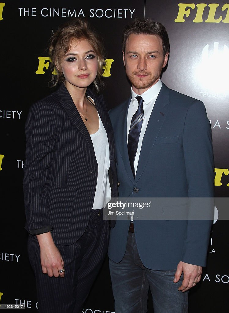 Actors Imogen Poots and James McAvoy attend Magnolia Pictures with The Cinema Society screening of 'Filth'at Landmark's Sunshine Cinema on May 19...
