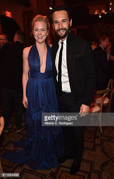 Actors Ingrid Bolso Berdal and Rodrigo Santoro attend the after party for the premiere of HBO's 'Westworld' at TCL Chinese Theatre on September 28...
