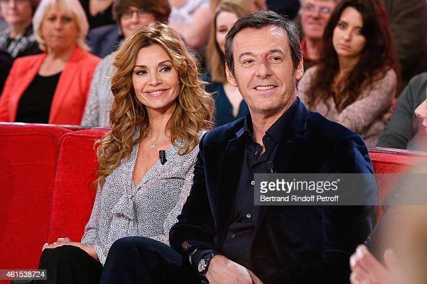 Actors Ingrid Chauvin and JeanLuc Reichmann present the Theater Piece 'Hibernatus' performed at Theatre de la Michodiere during the 'Vivement...