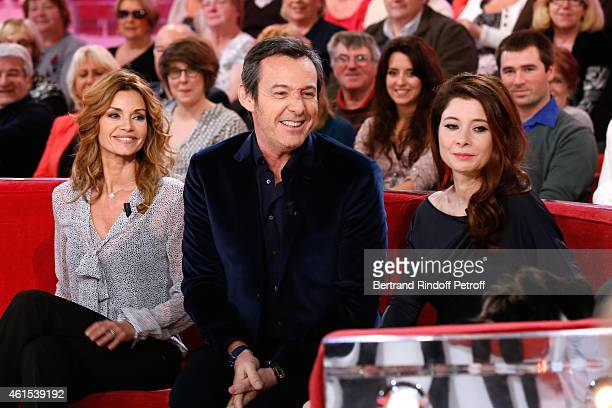 Actors Ingrid Chauvin and JeanLuc Reichmann present the Theater Piece 'Hibernatus' performed at Theatre de la Michodiere and Writer Helene Gremillon...